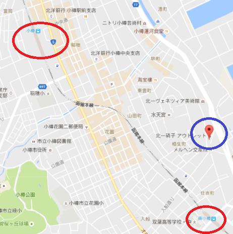 ルタオ本店の地図