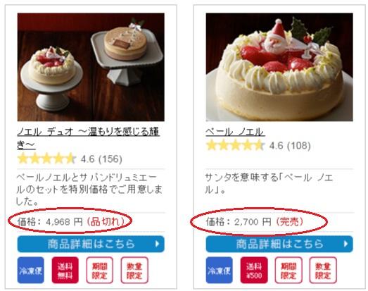 ルタオのクリスマスケーキ完売