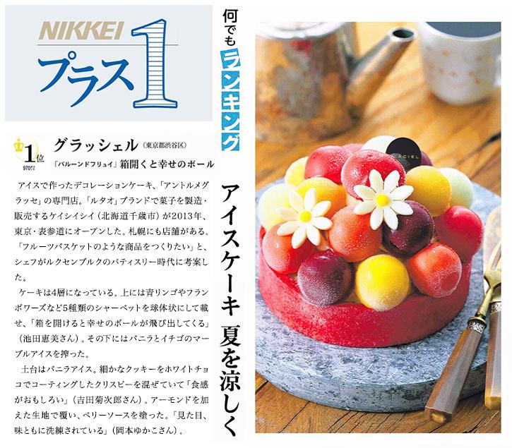 ルタオの記事 日経新聞(アイスケーキ)